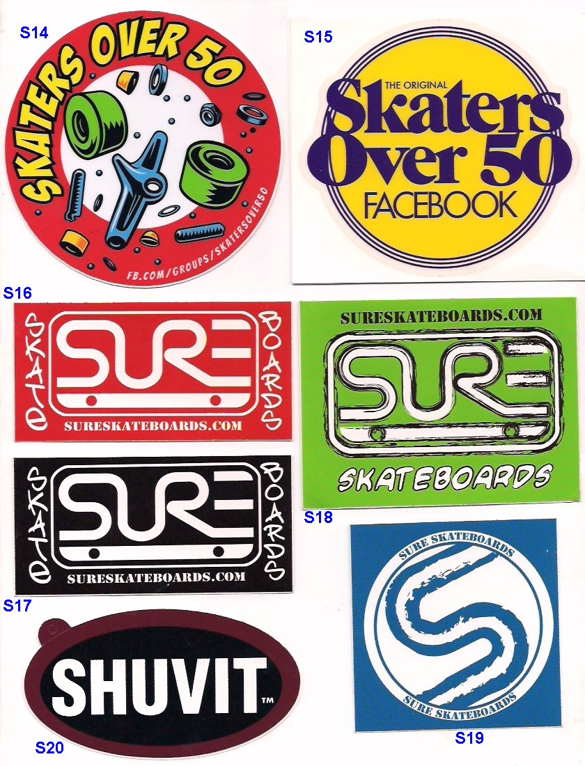 S14 3 00 skaters over 50 facebook red 1 s15 3 00 skaters over 50 facebook yellow 1 s16 1 00 sure skateboards red 1